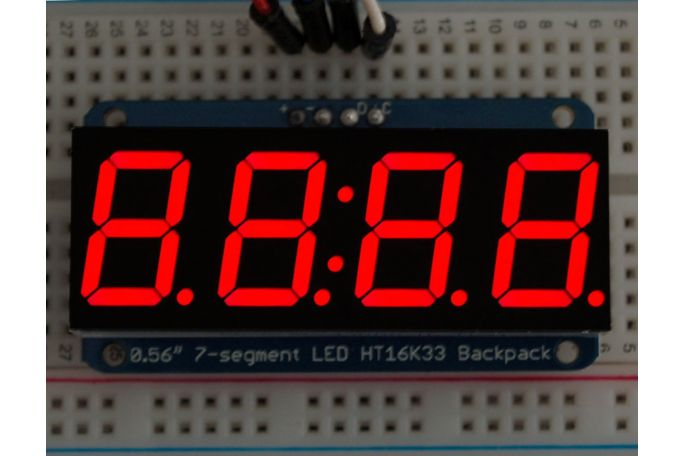 7-Segment Display with I2C Backpack