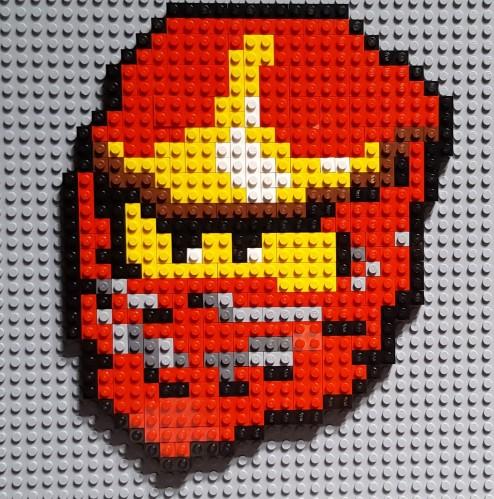 Lego Pixelart Kai Ninjago