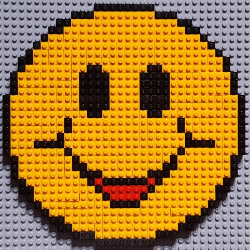 Lego Pixelart Smiley