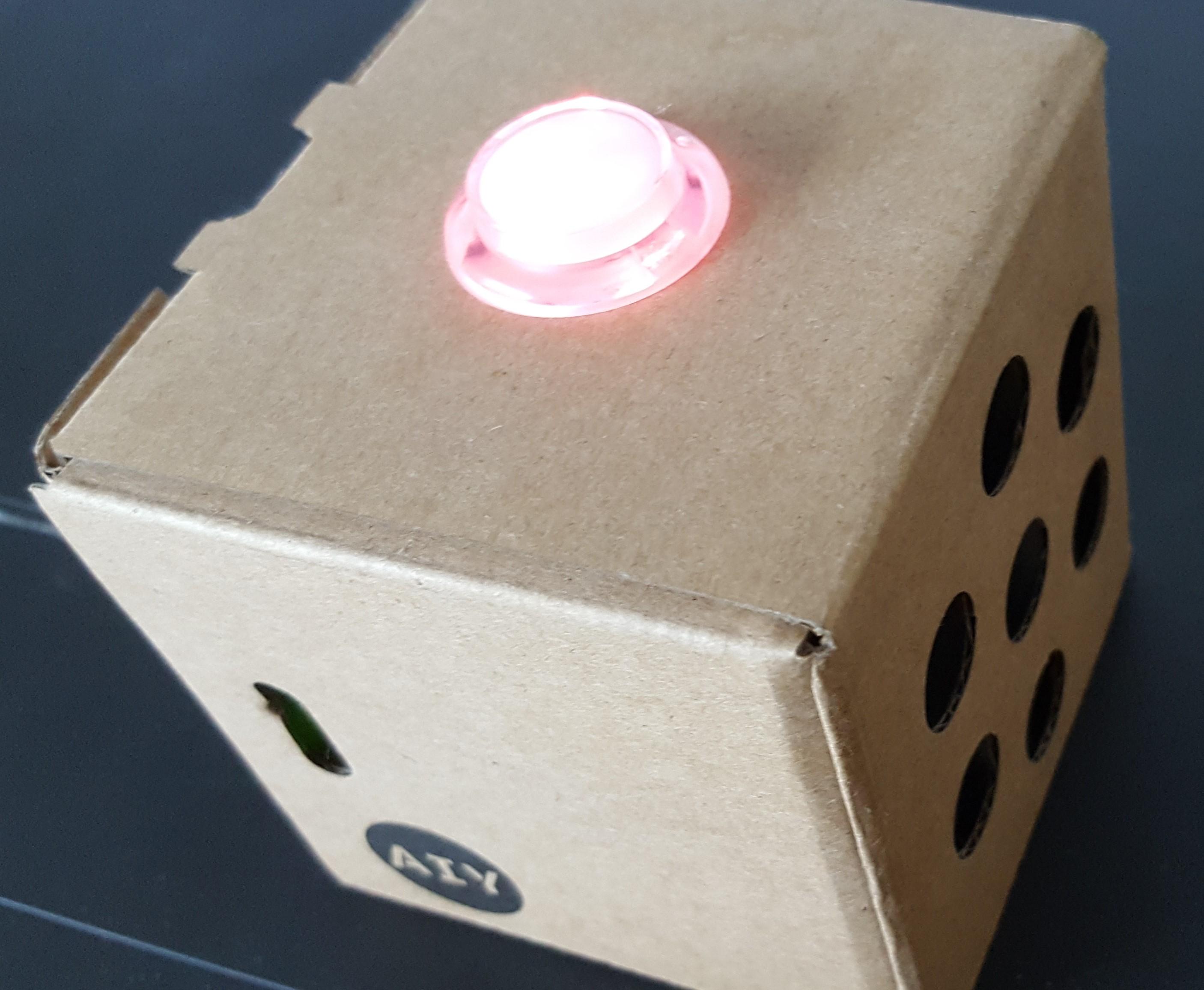 Google AIY Voice Kit Assembled