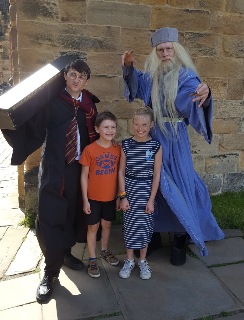 Harry and Dumbledore in Alnwick castle
